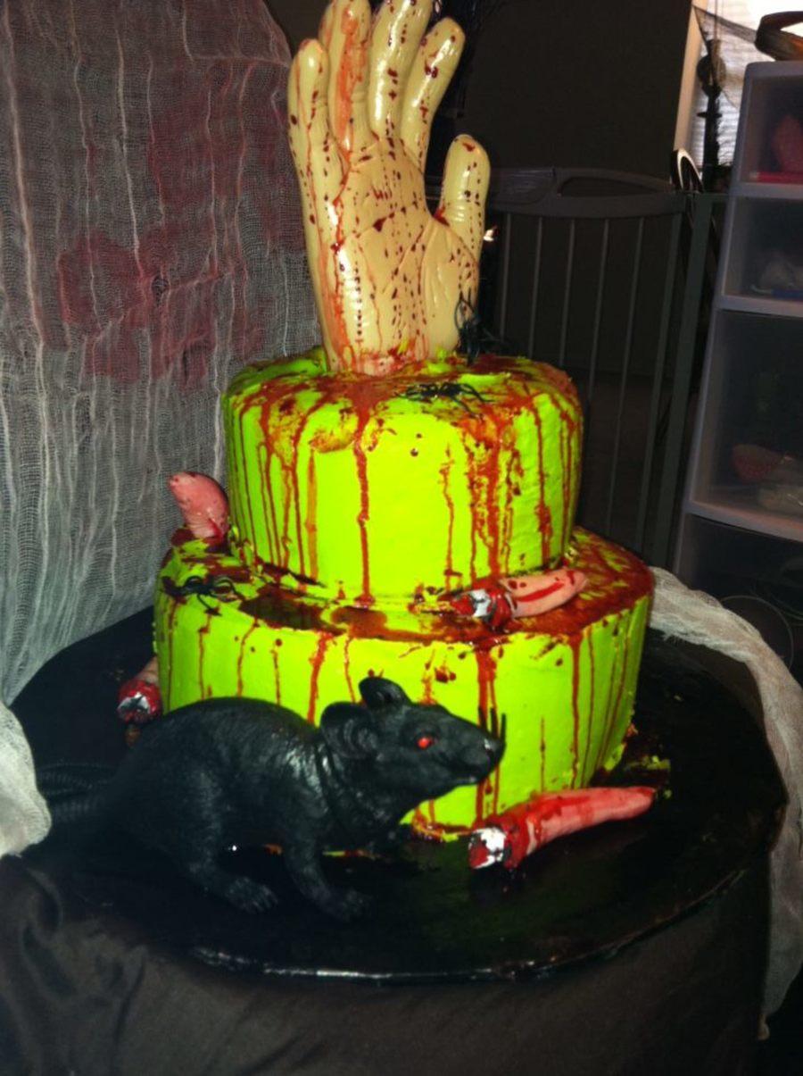 Goosebumps Inspired Birthday Halloween Party Cake