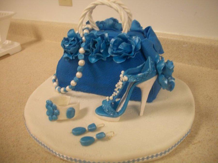 Purse And High Heel Shoe Cake Cakecentral Com