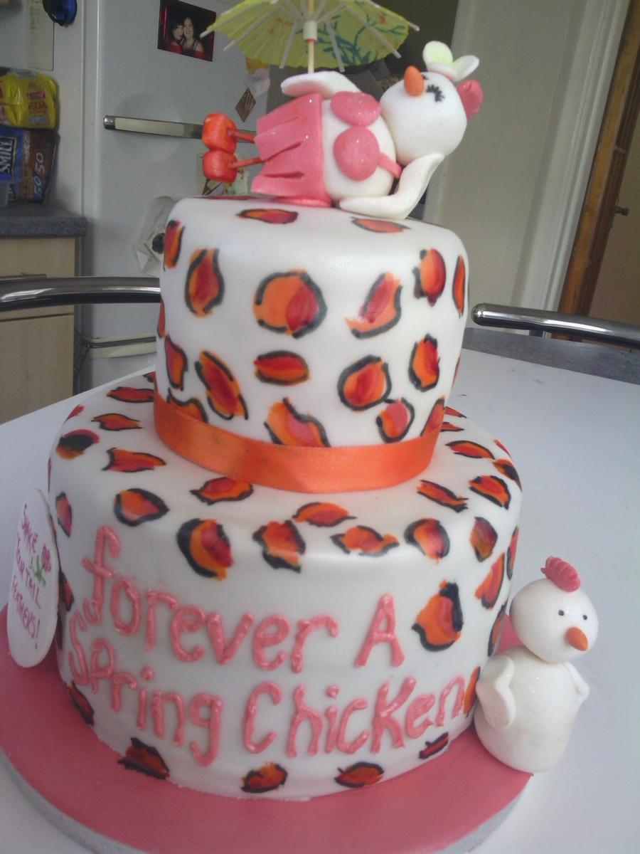 Forever A Spring Chicken Cake Cakecentral Com