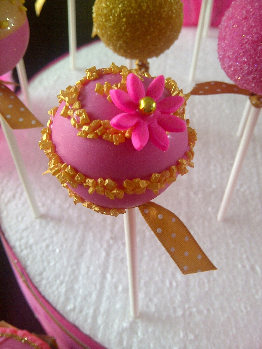 Pink And Gold Cake Pops Cakecentral Com