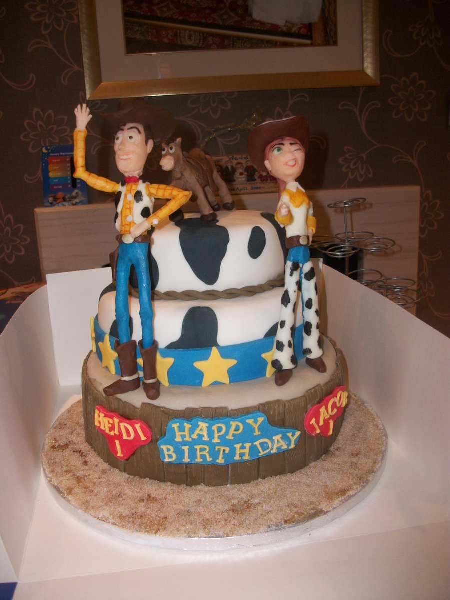 Toy Story Theme Childrens Birthday Cake Cakecentral Com