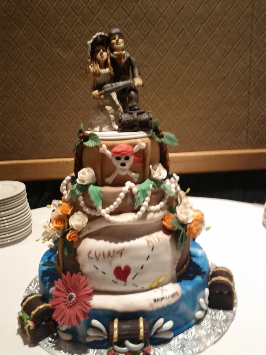 Pirate Themed Wedding Cake