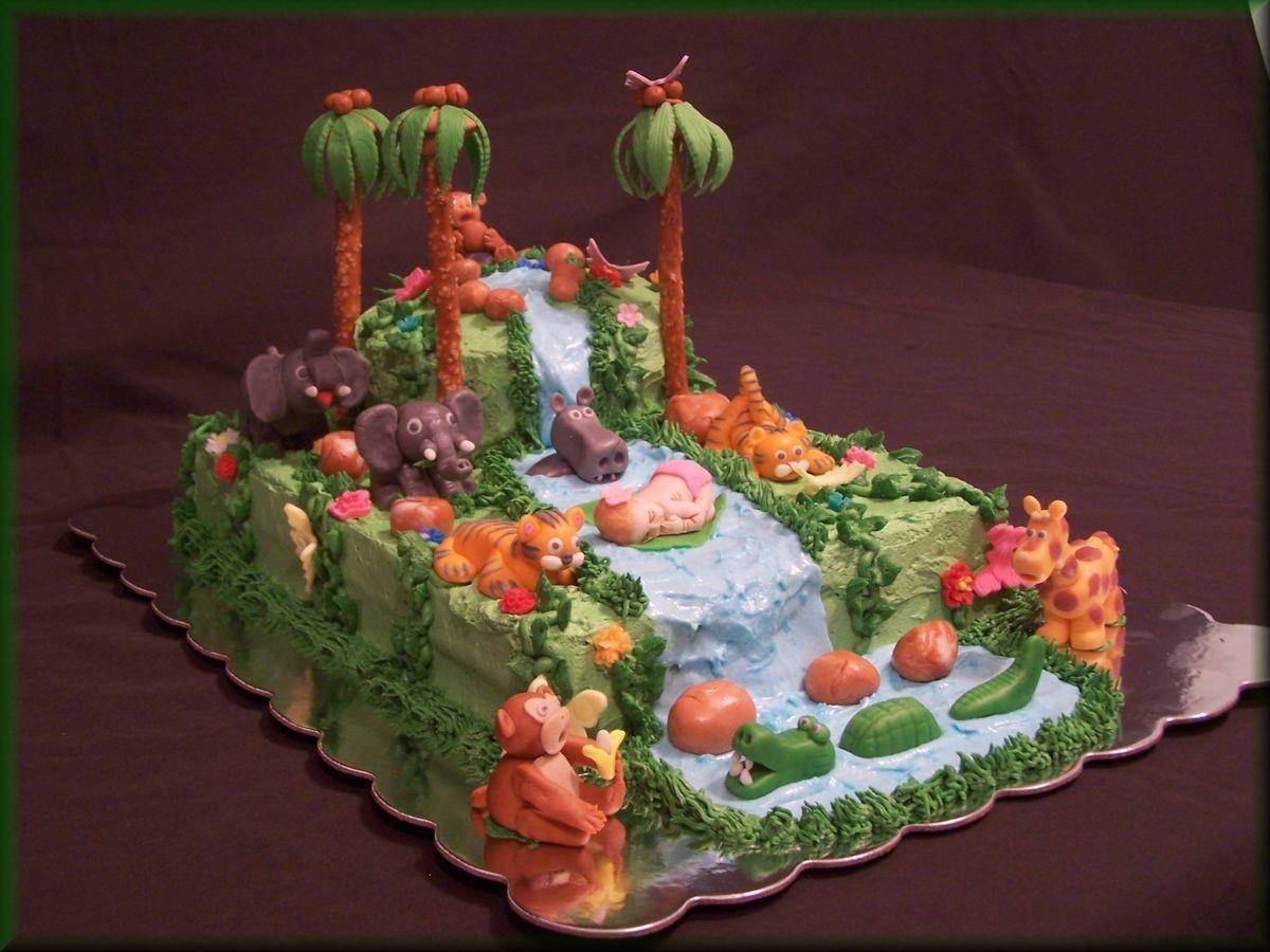 Rain Forest Baby Shower Cake