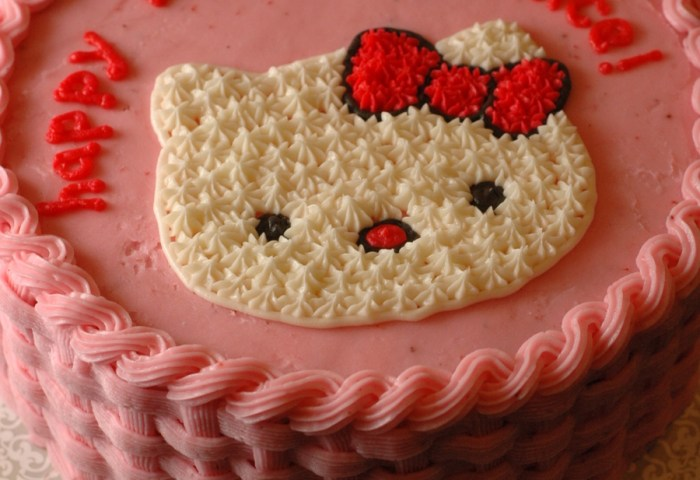 Pink Hello Kitty Cake Cakecentralcom