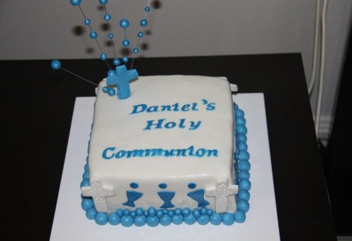 First Communion Cake Boy Cakecentralcom