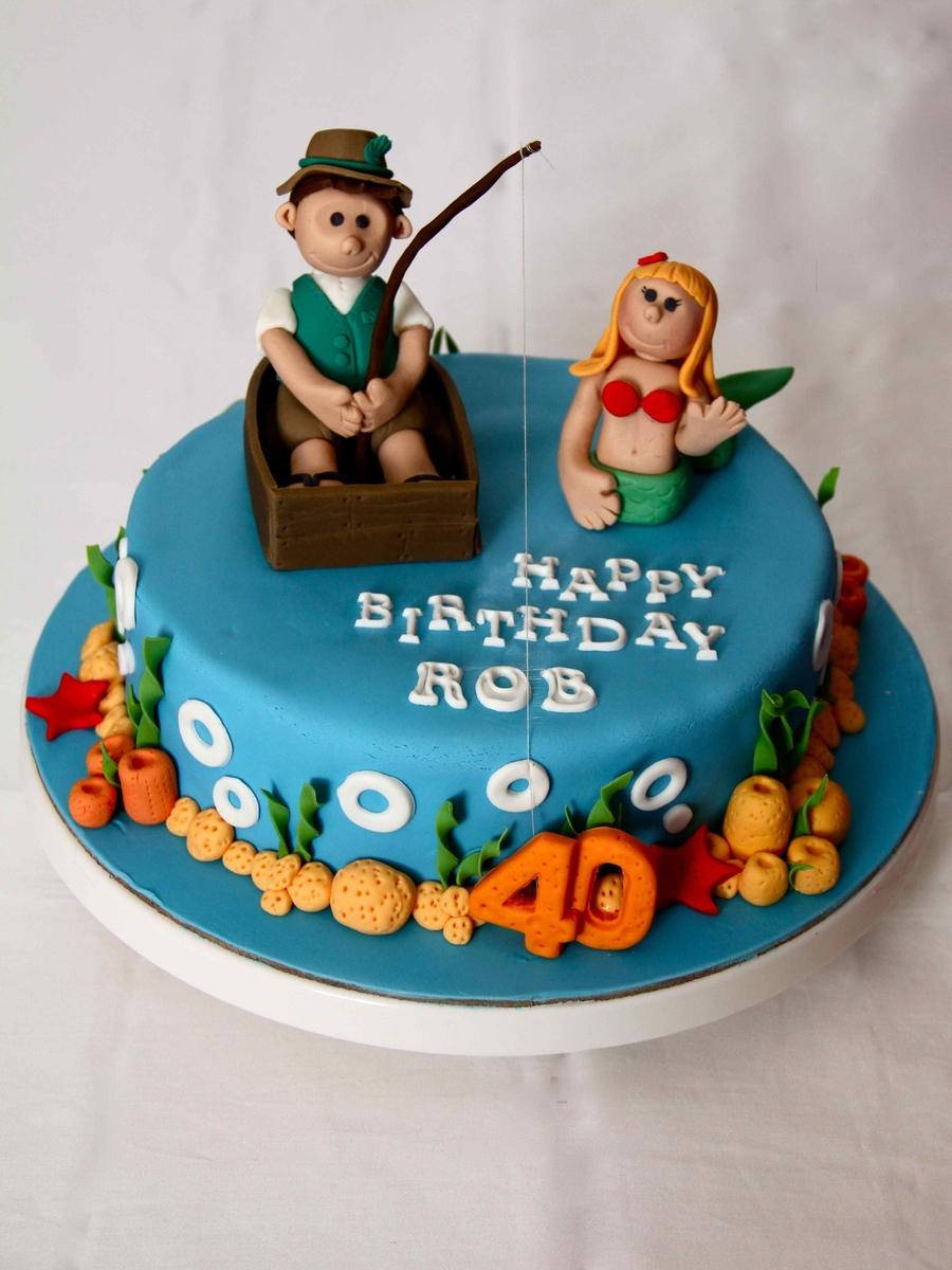 Fisherman Birthday Cakes