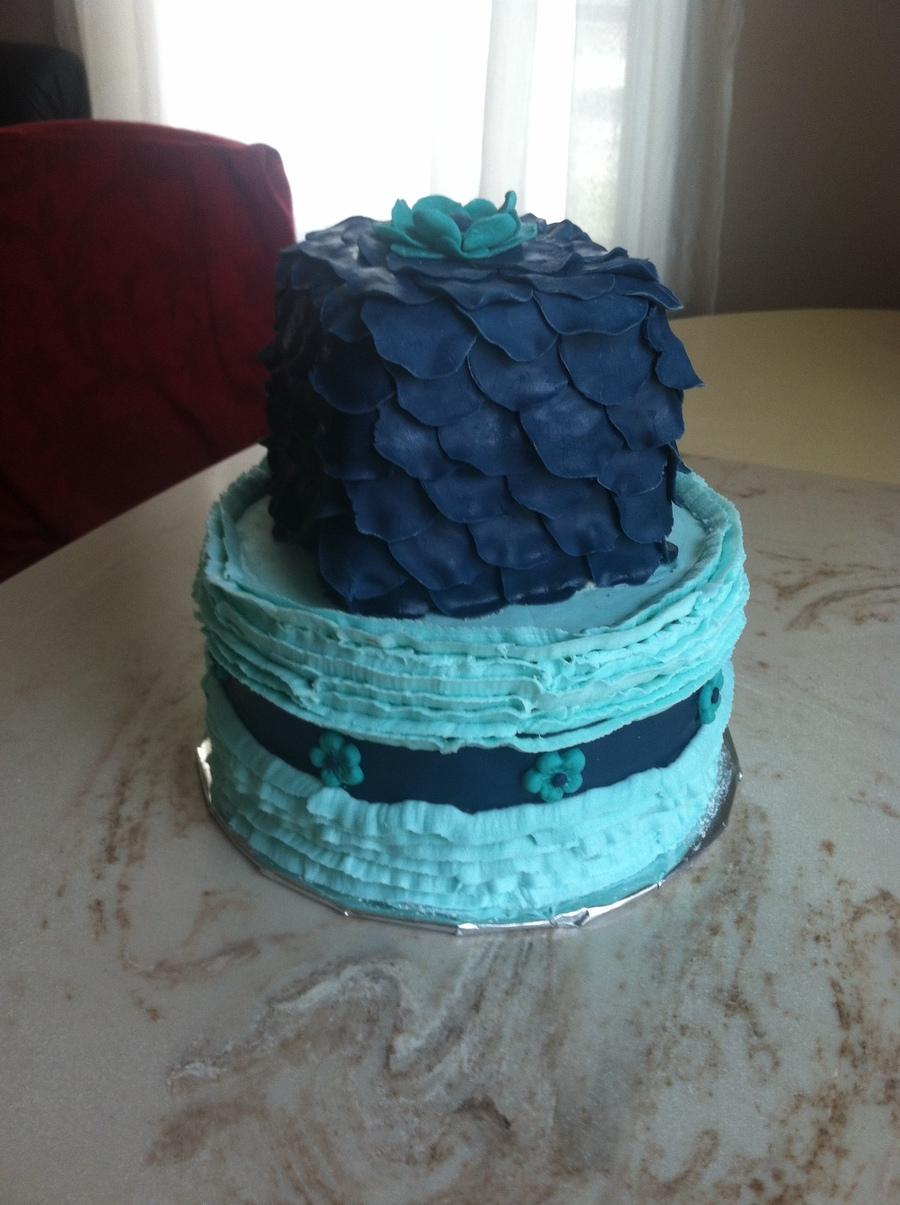 Petal Amp Ruffle Birthday Cake Cakecentral Com