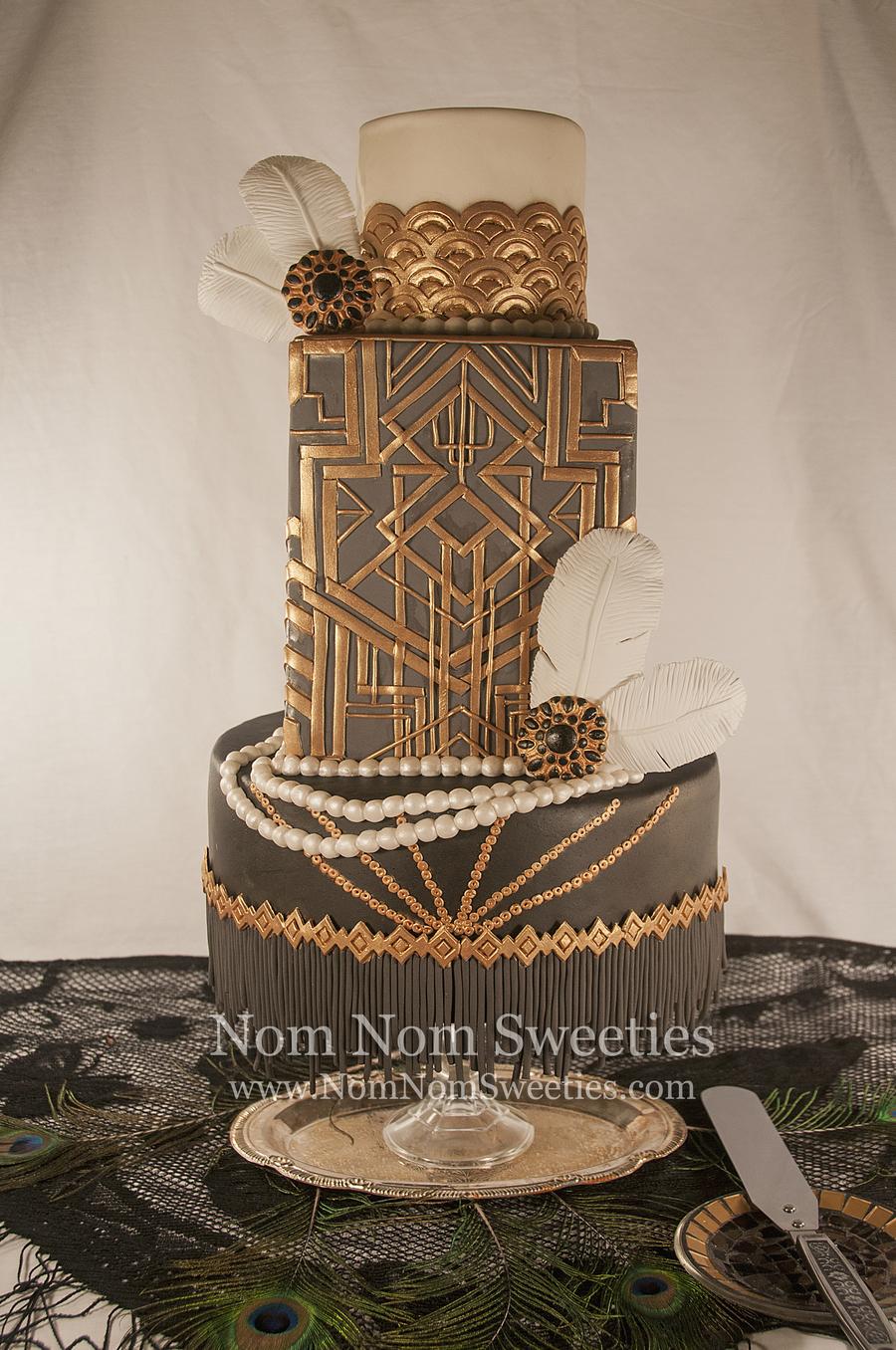 Great Gatsbyart Deco Cake