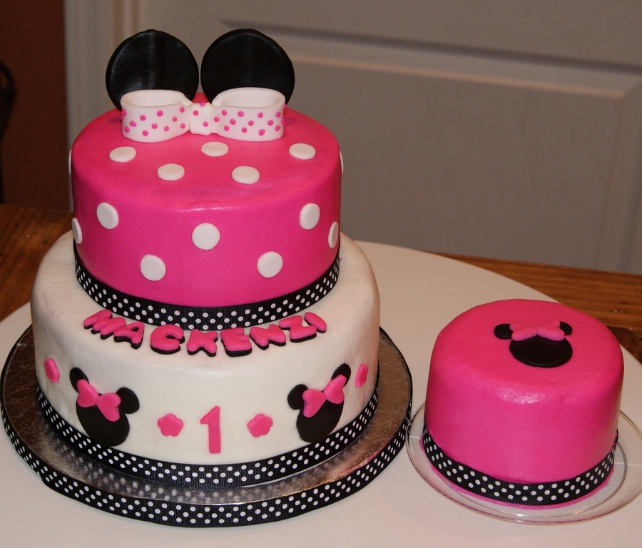 Pictures Of Minnie Mouse 1st Birthday Cakes Gendiswallpaper