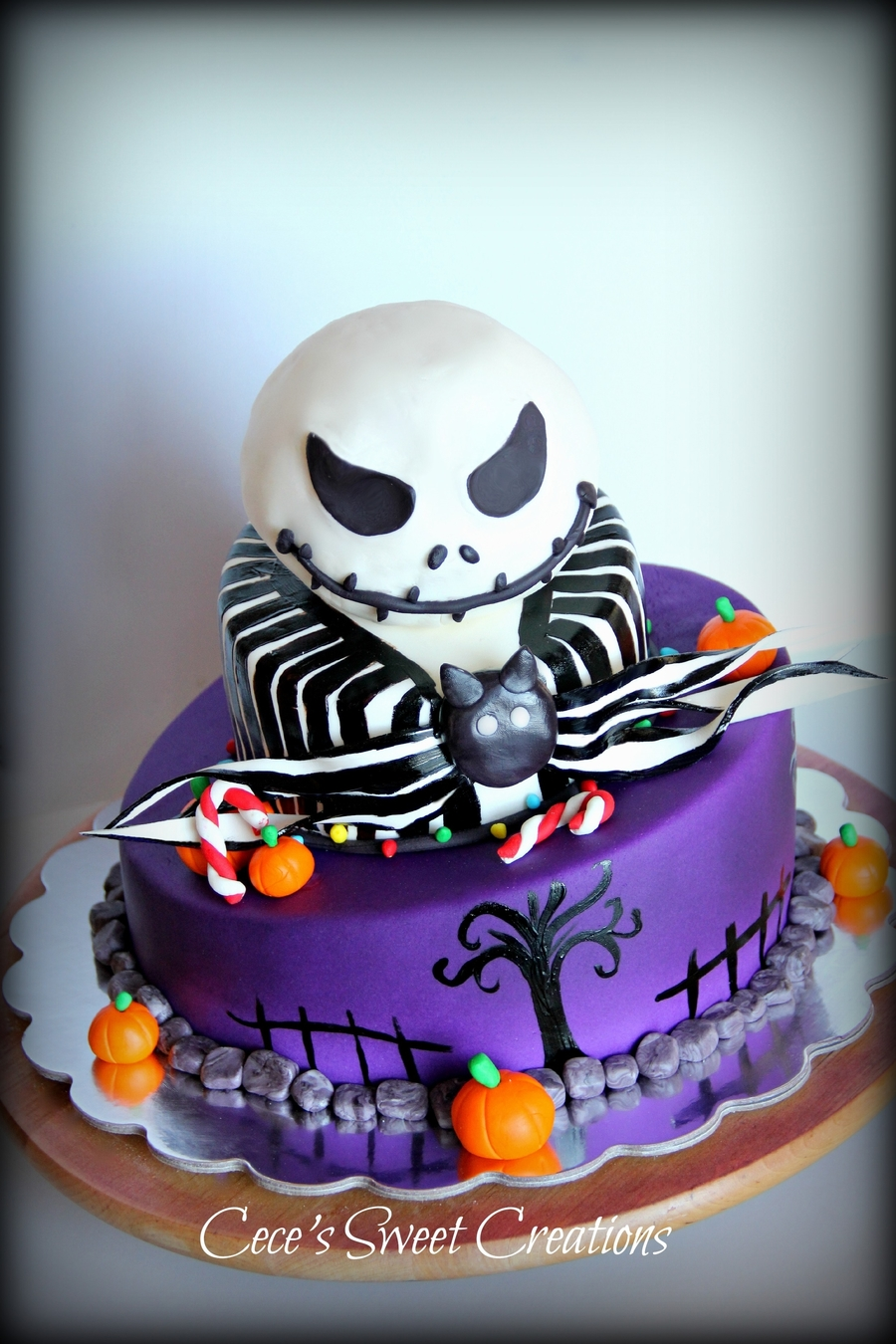 Jack From Nightmare Before Christmas Cake