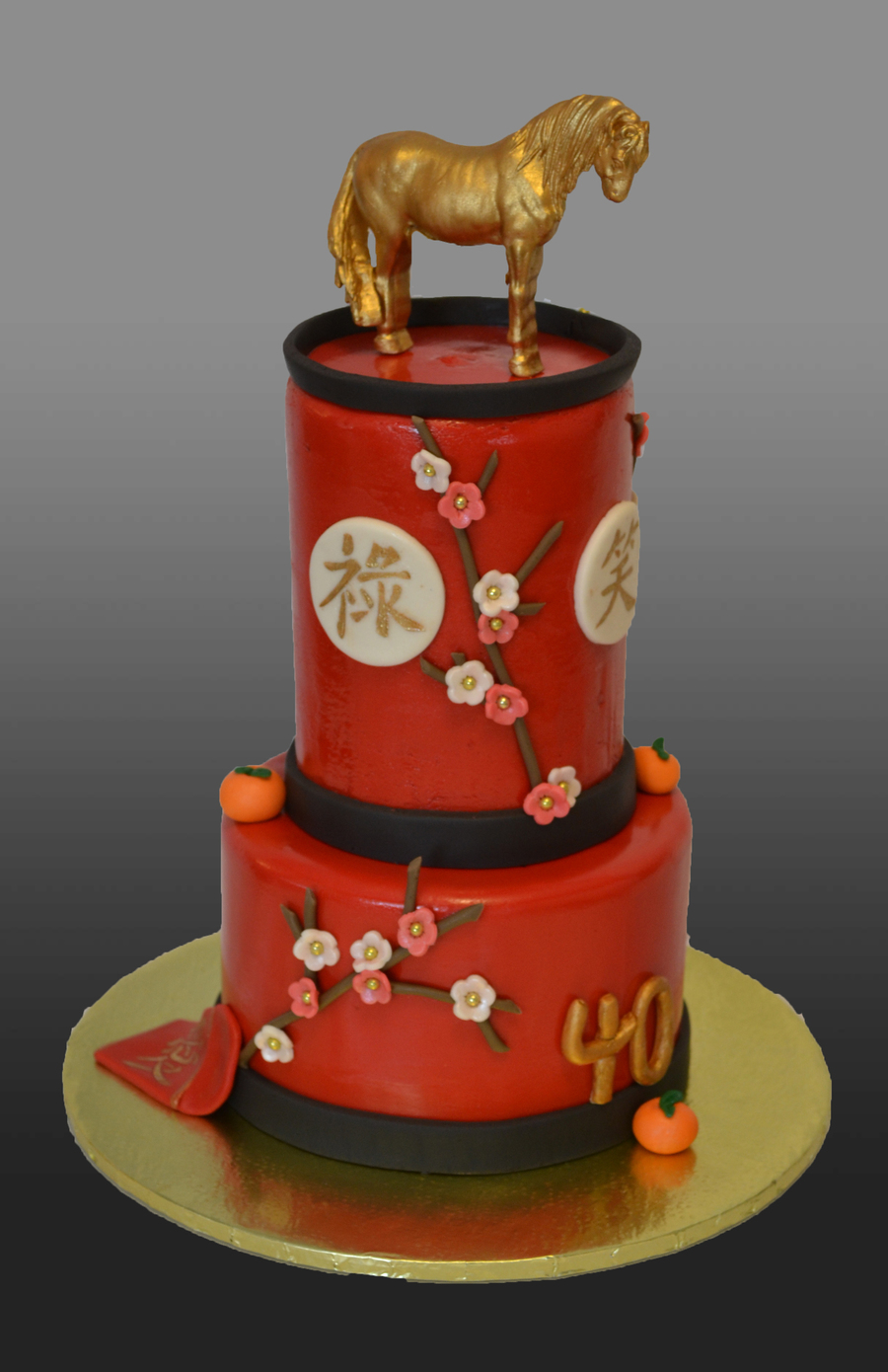 Chinese New Year Themed Cake  40Th Birthday Cake    CakeCentral com Favorites