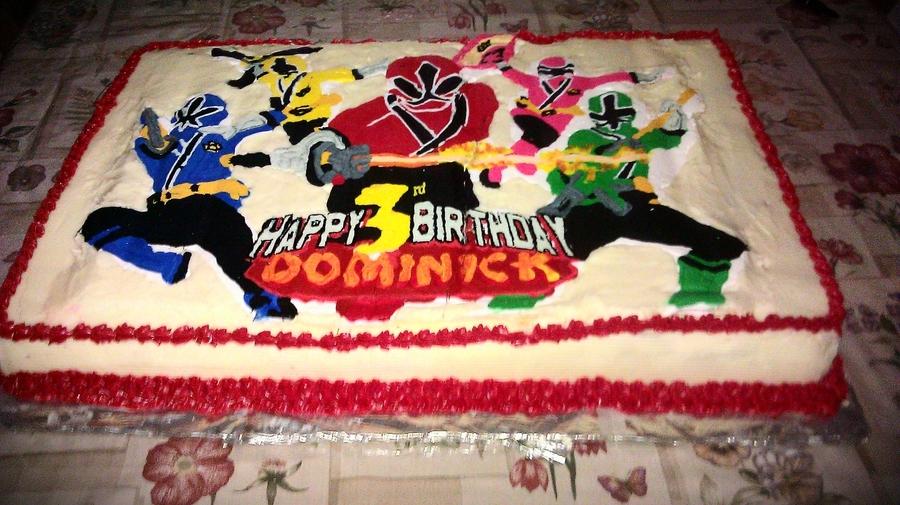 Power Rangers Samurai Bday Cake Cakecentral Com