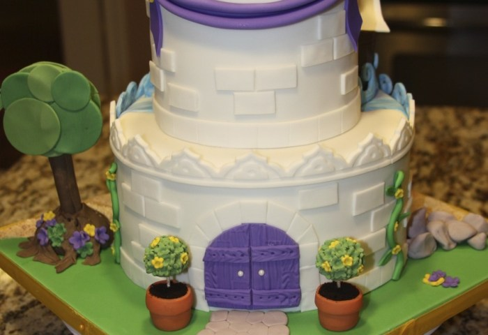 2 Sided Birthday Cake Pirate And Princess Castle Design From The