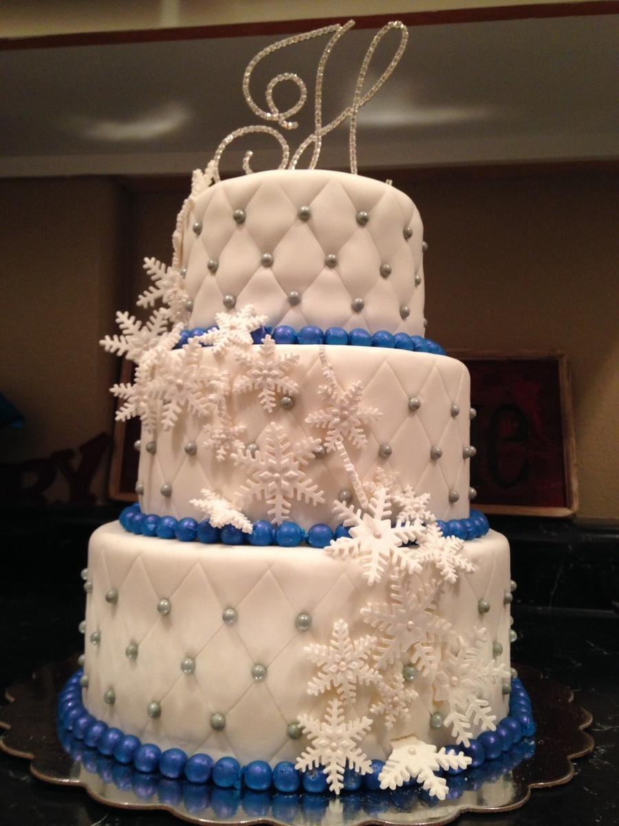 Winter Wonderland Wedding Cake