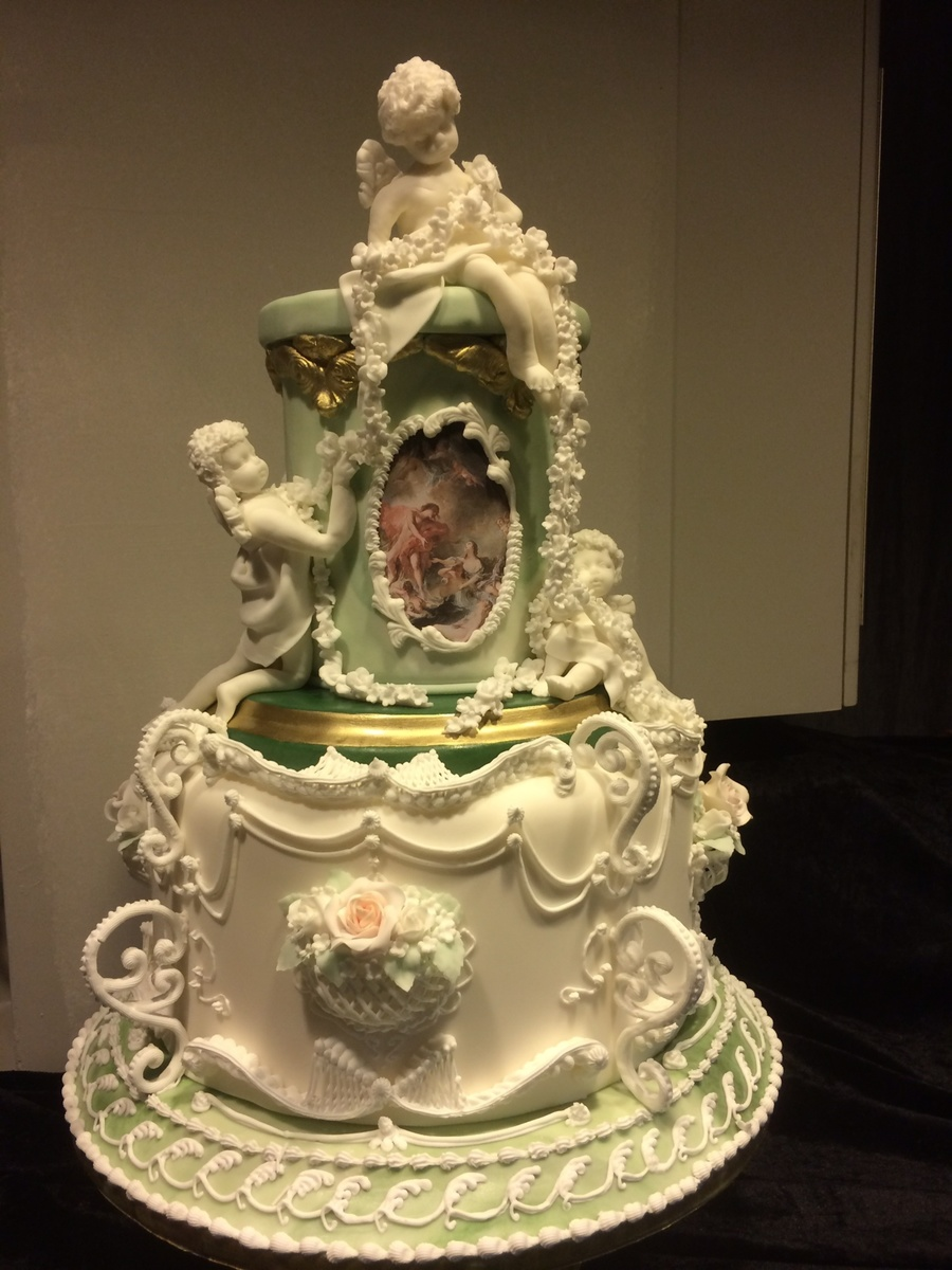 Rococo Inspired Wedding Cake Cakecentral Com