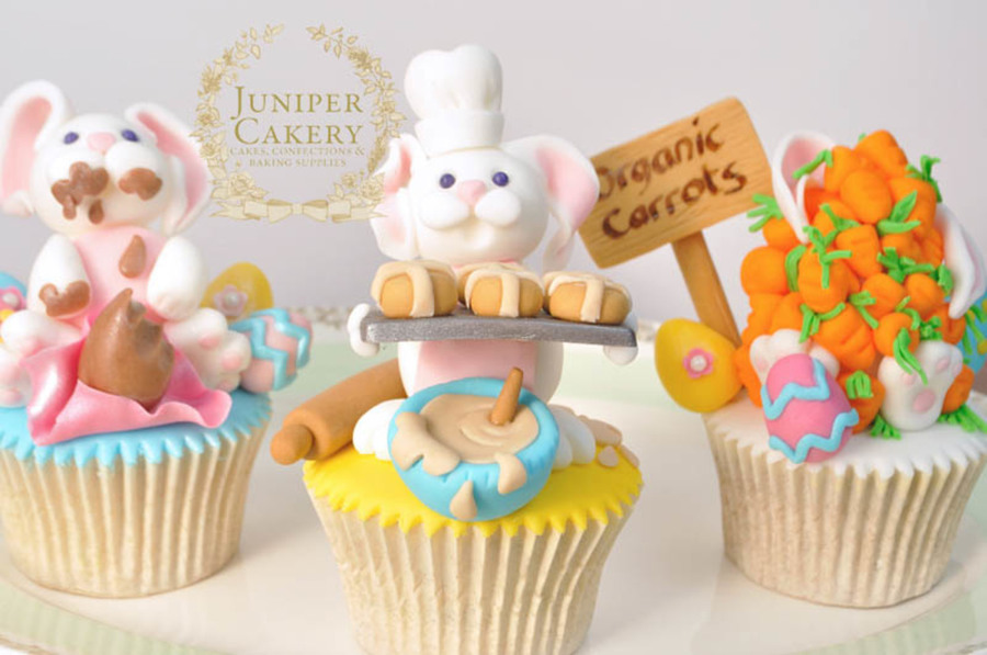 Funny Easter Bunny Cupcakes