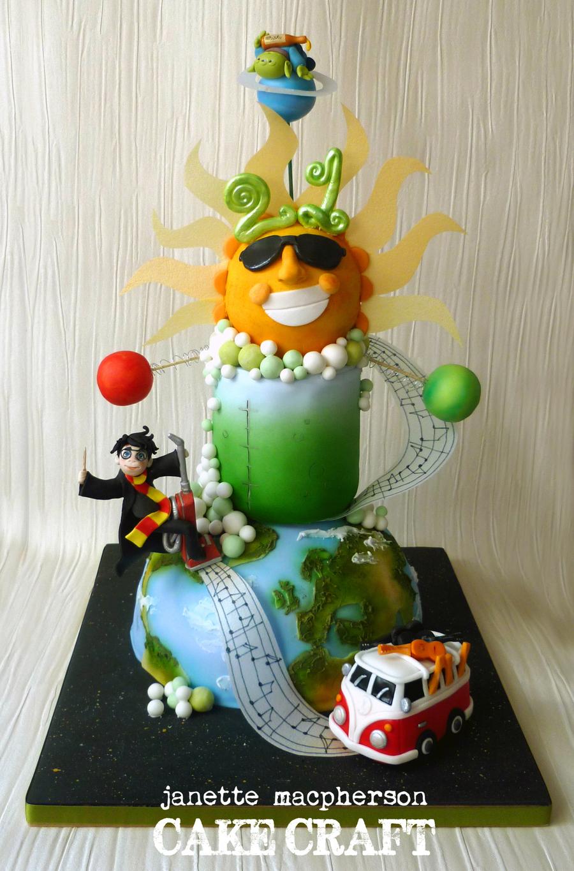 Crazy 21st Birthday Cake Cakecentral Com
