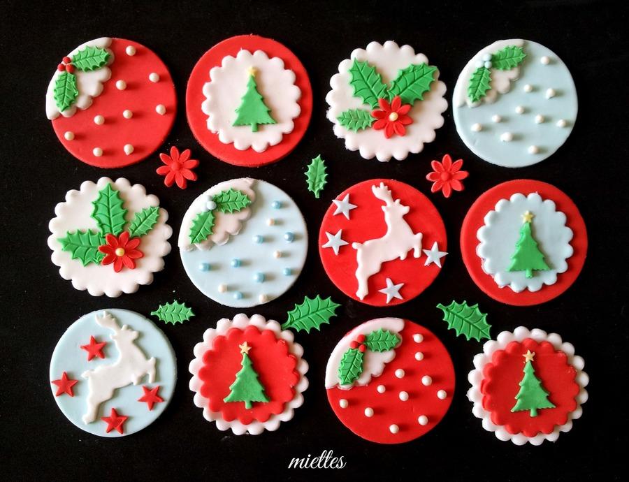 Toppers de fondant para decoración de cupcakes