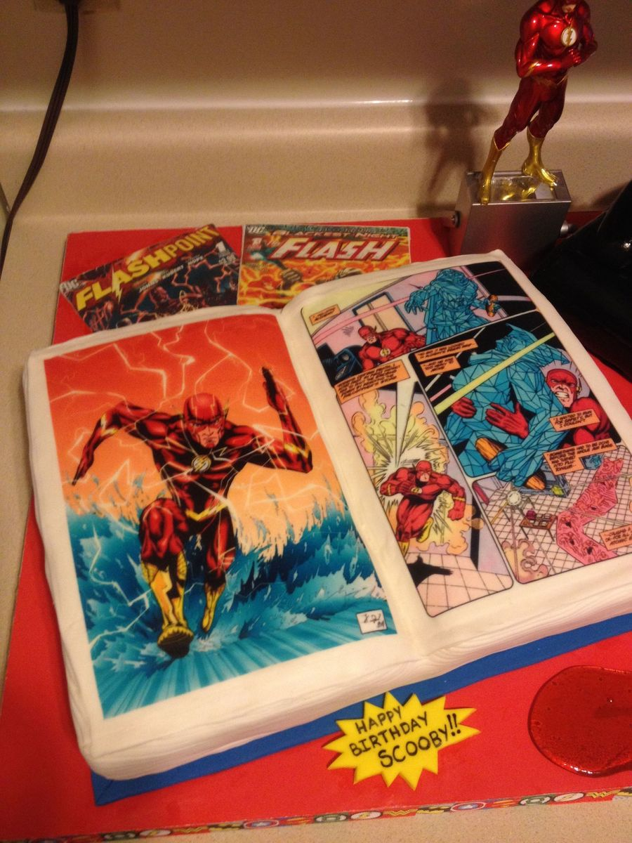 Flash Comic Book Playstation 3 Bottle Cake Cakecentral Com