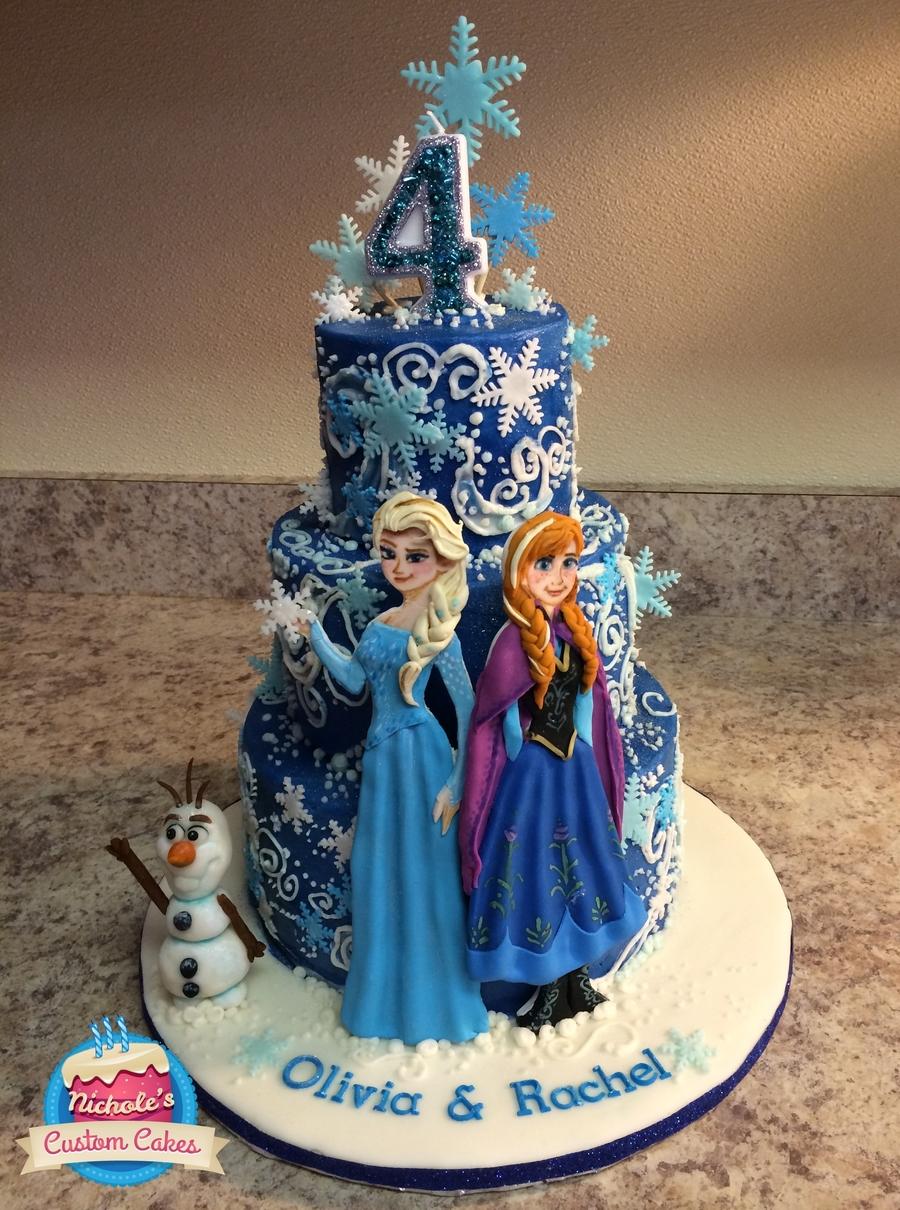 Frozen Birthday Cake This Cake Was Three Layers 8 6 And 4