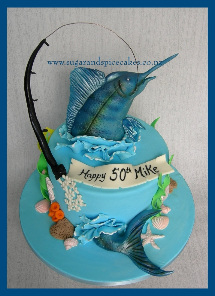 Blue Marlin Fishing Cake Cakecentral Com
