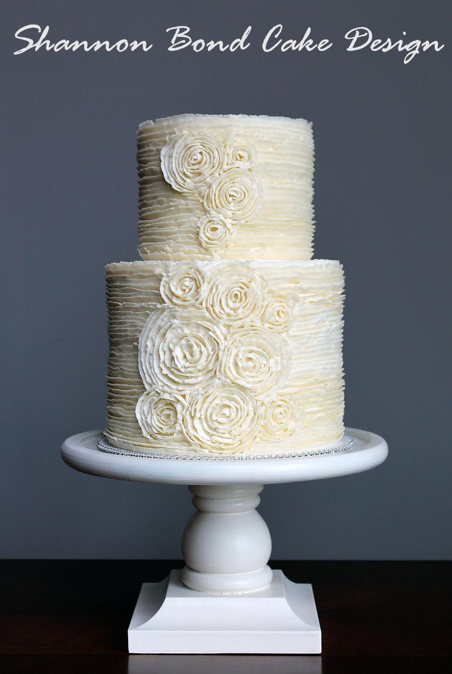 Romantic Buttercream Rosette Cake