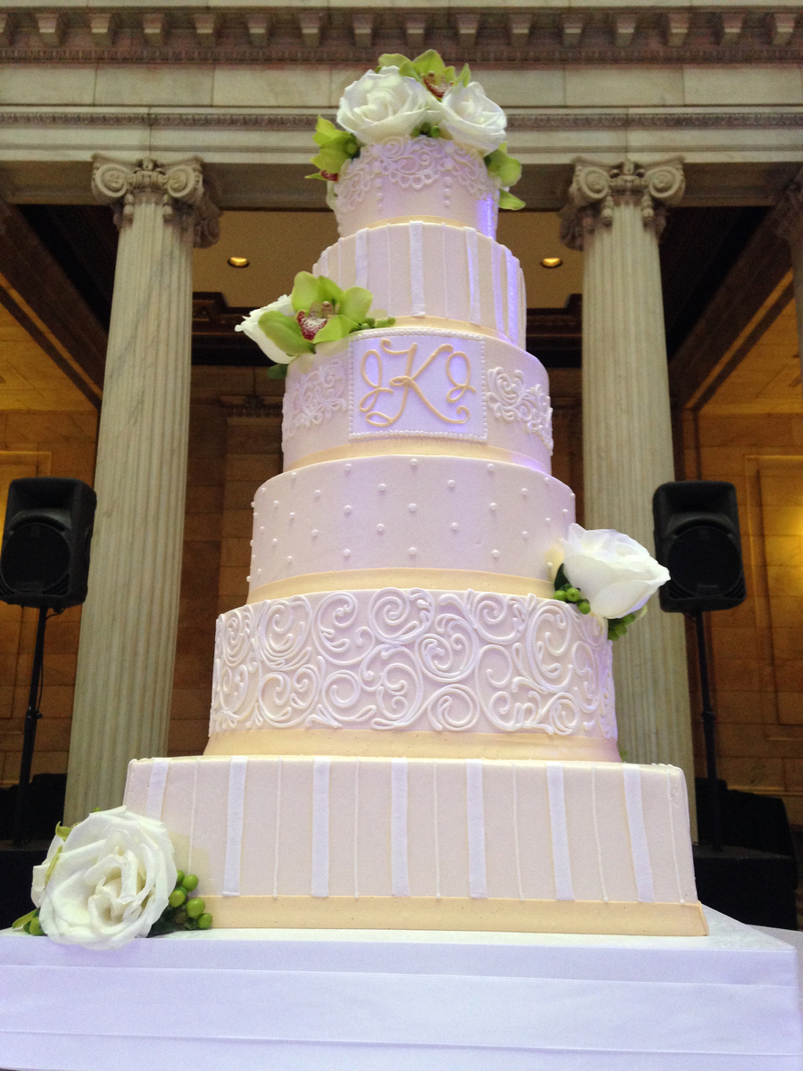 6 Tier Buttercream Wedding Cake Cakecentral Com
