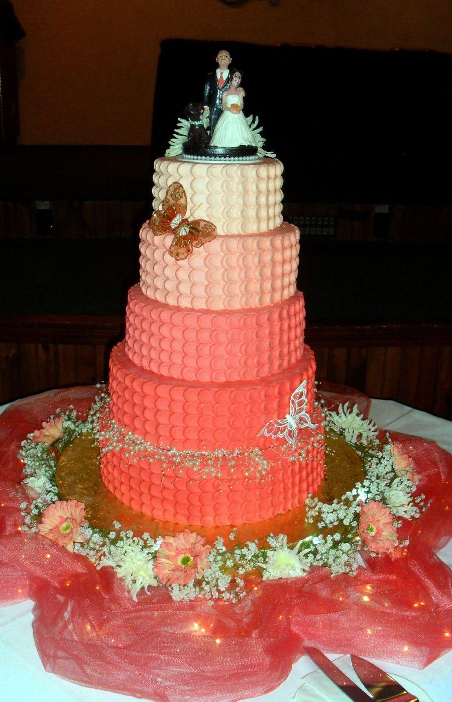 Orange Ombre Cake