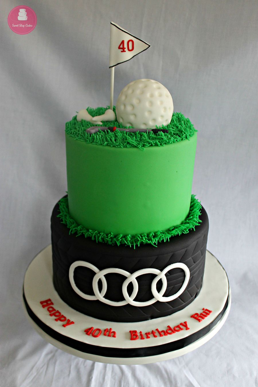 Golf And Audi Themed Birthday Cake Cakecentral Com