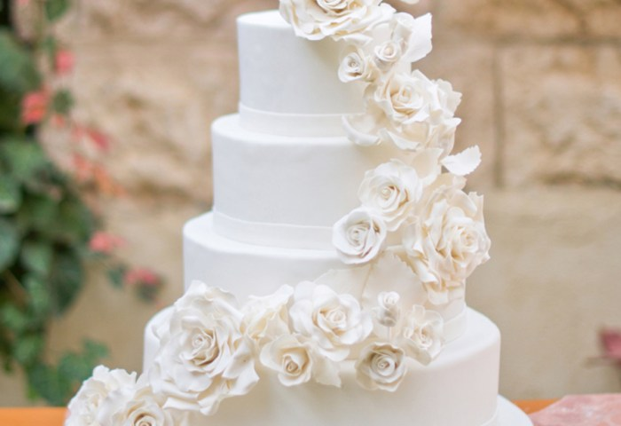 White Roses Wedding Cake Cakecentralcom