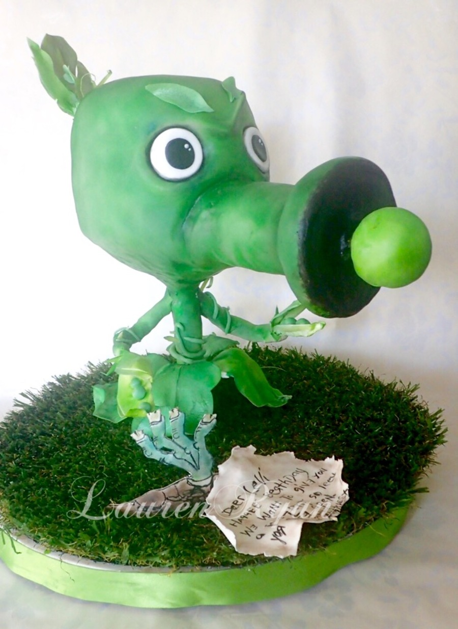 Plants Vs Zombies Pea Shooter Cakecentral Com