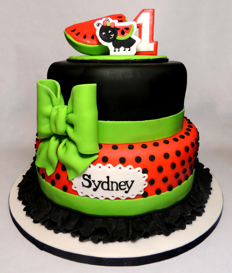 Watermelon Birthday Cake Cakecentral Com