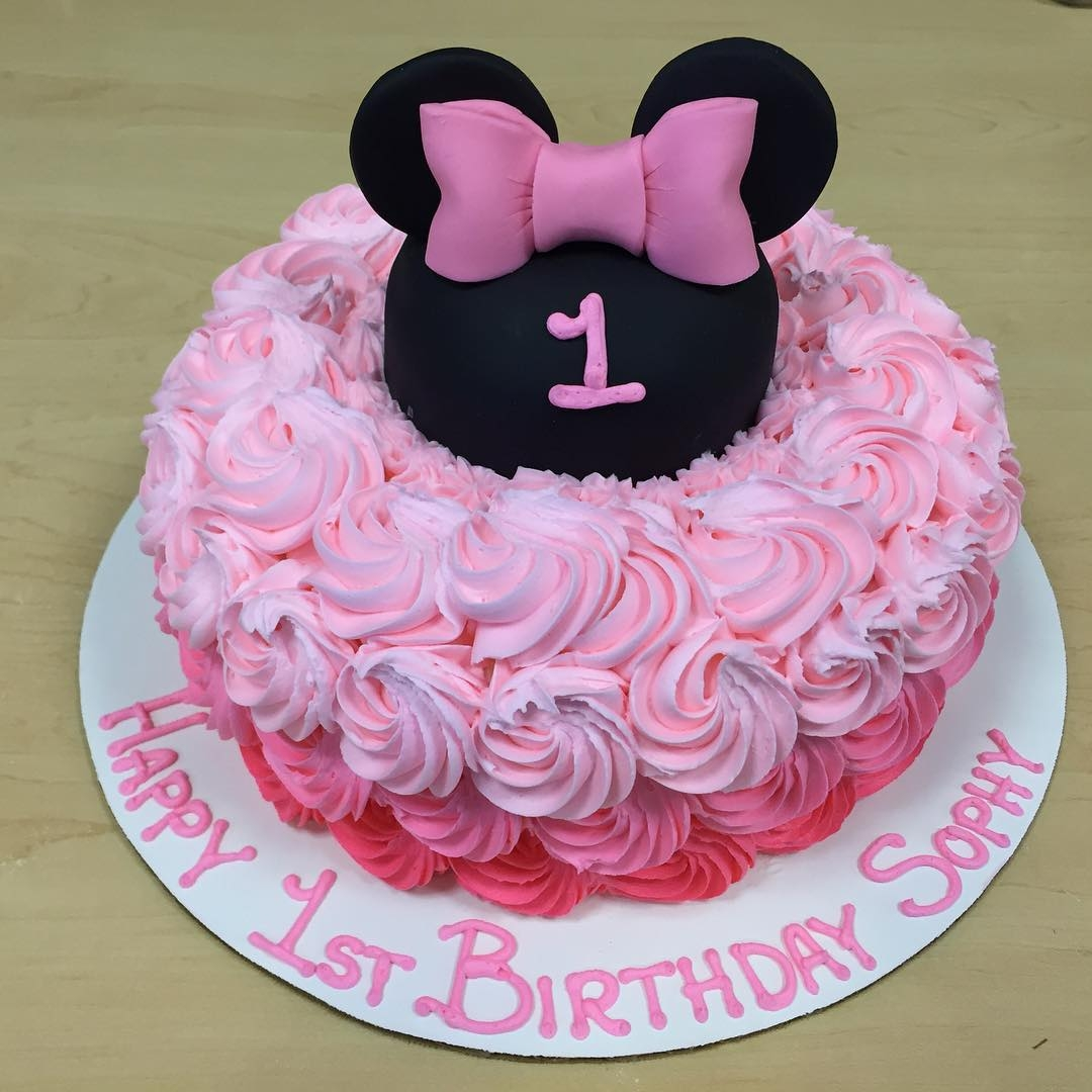 Minnie Mouse Rosette First Birthday