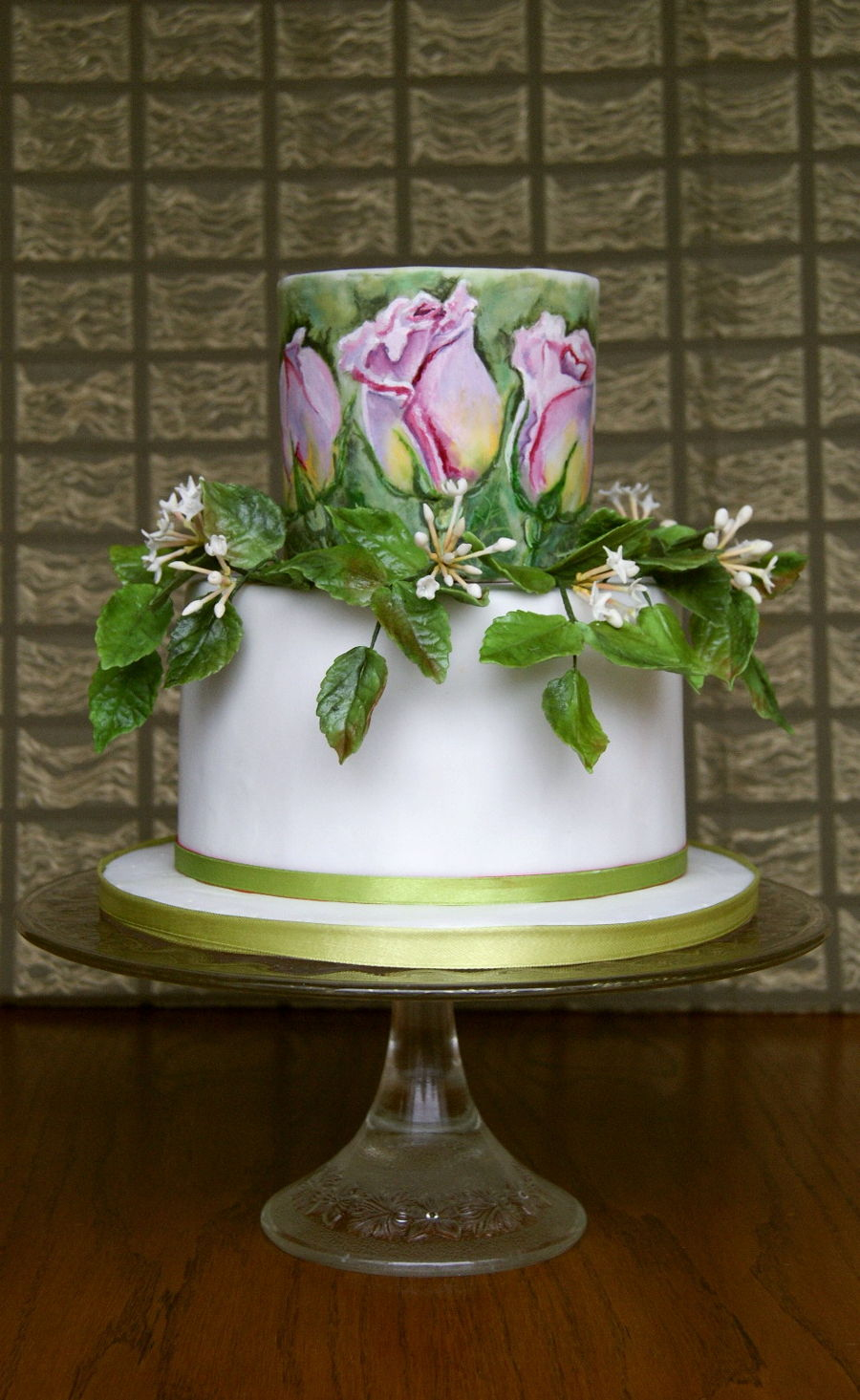 Hand Painted Roses Cakecentral Com