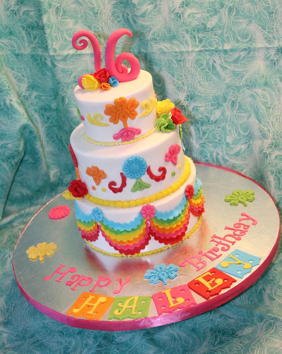 Mexican Fiesta Sweet Sixteen Cakecentral Com