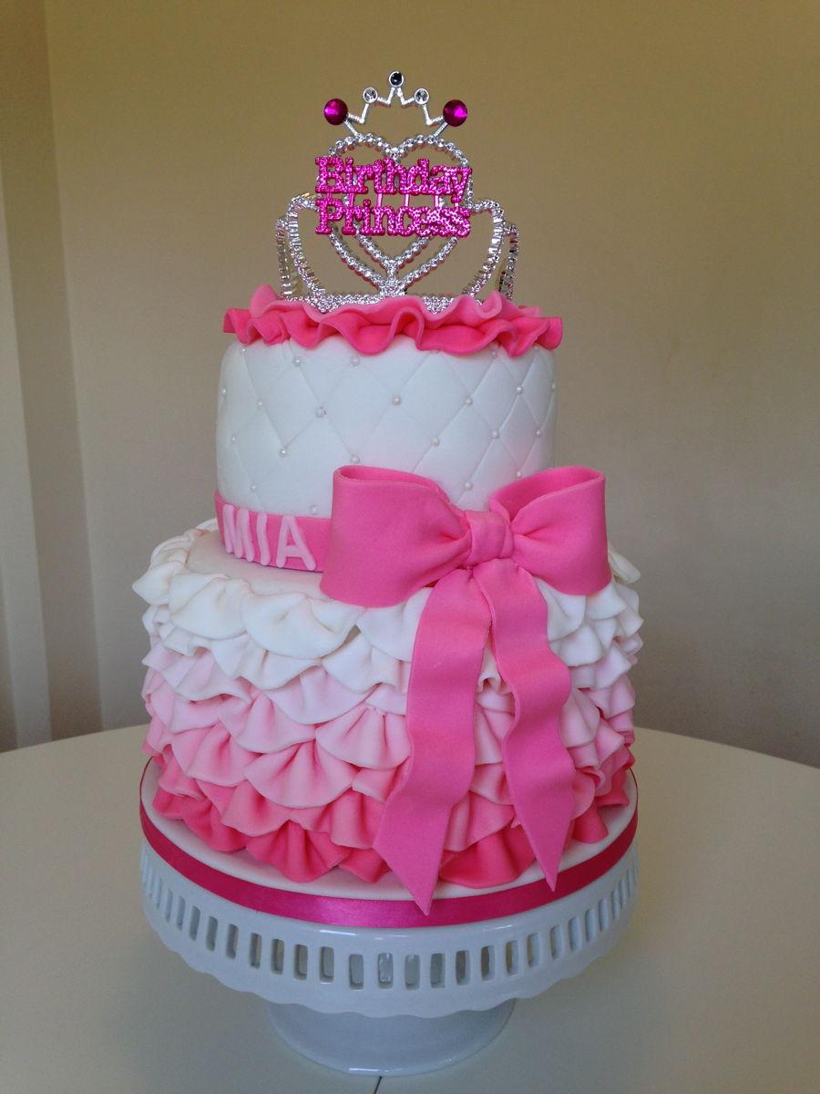 Pink Frilly Birthday Princess Cake Cakecentral Com