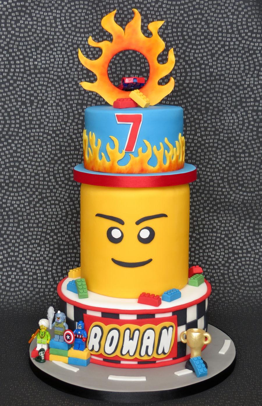 Lego Hot Wheels Cake Cakecentral Com