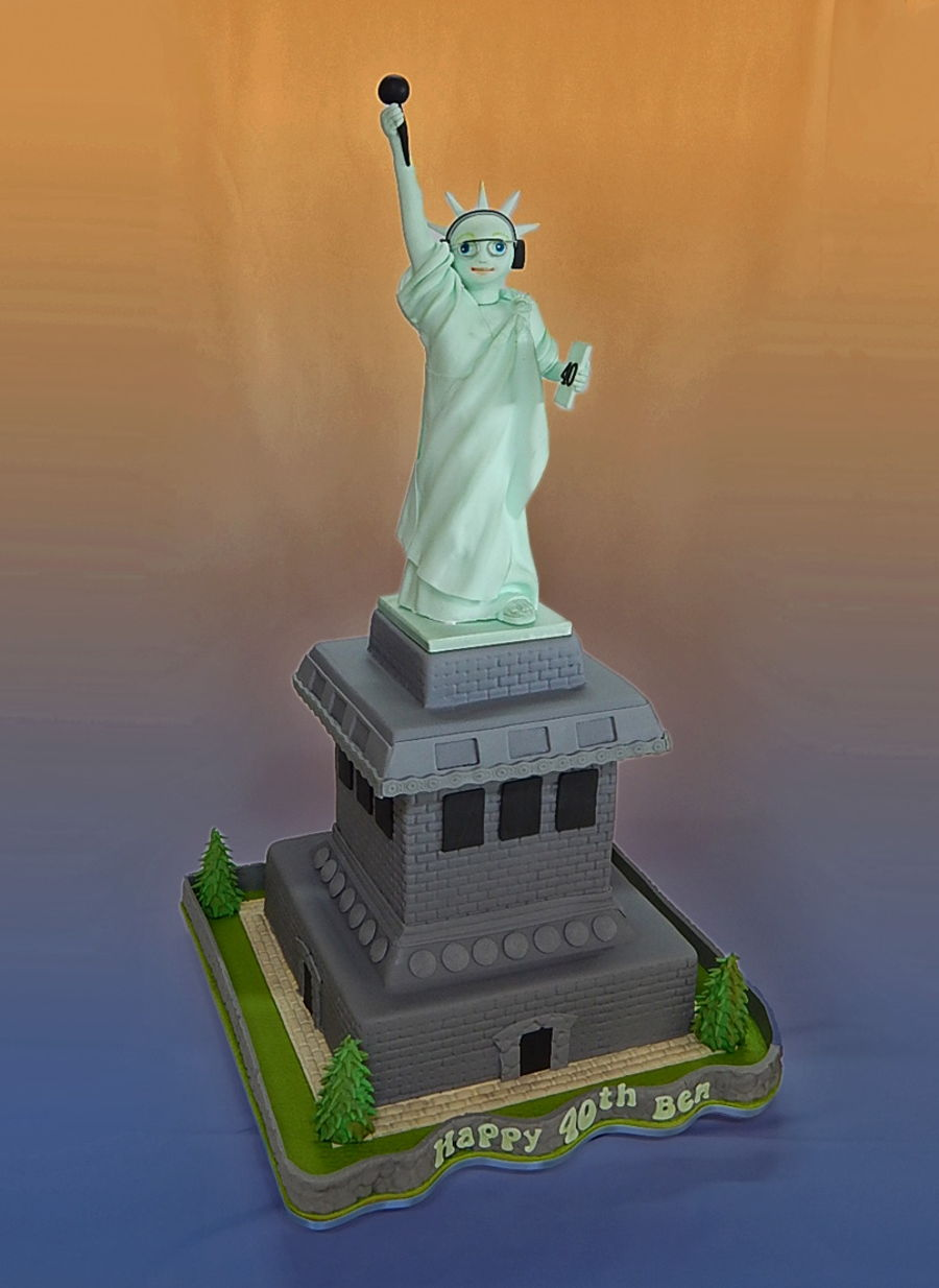 New York 40Th Birthday Cake