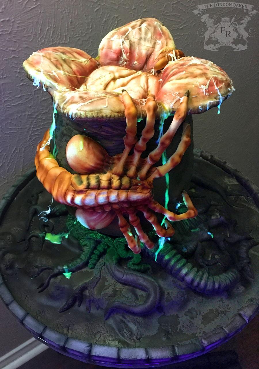 Ultimate Creepy Halloween Facehugger Alien Cake