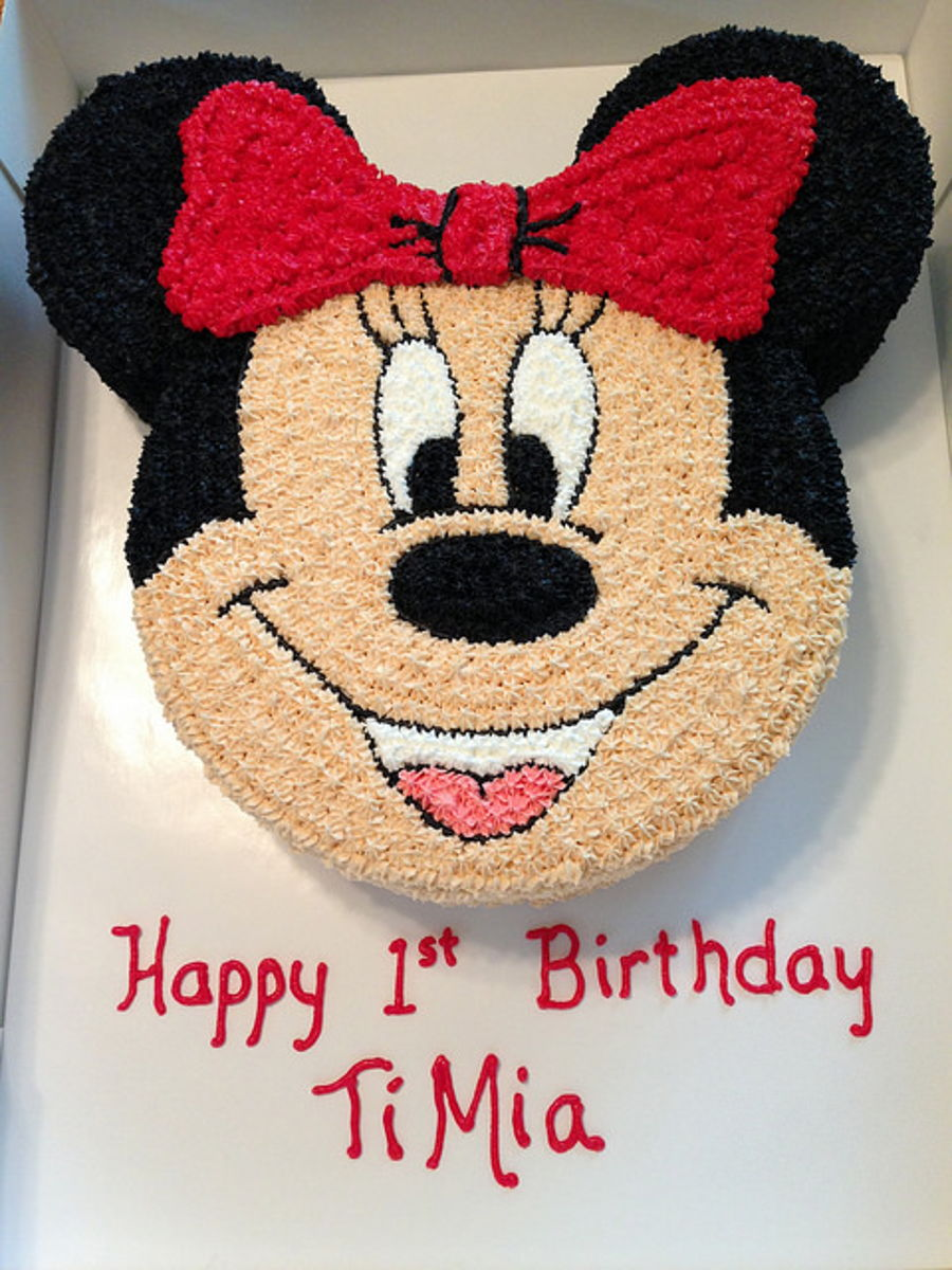 Minnie Mouse Birthday Cake And Smash Cake Cakecentral Com