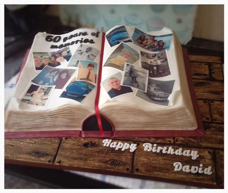Photo Album Scrap Book Cake For 60th Birthday