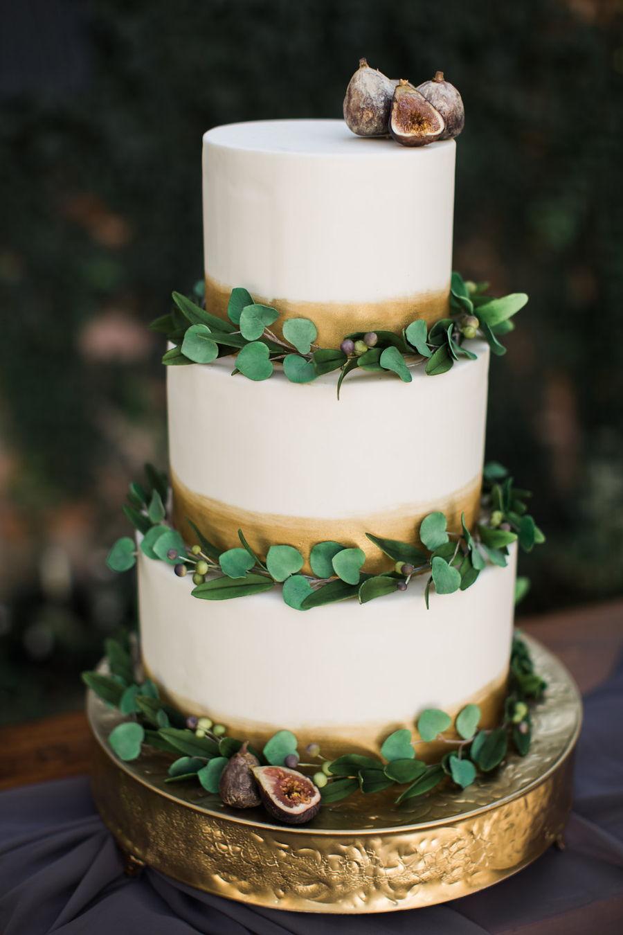 Eucalyptus Fig And Olive Leaf Cake