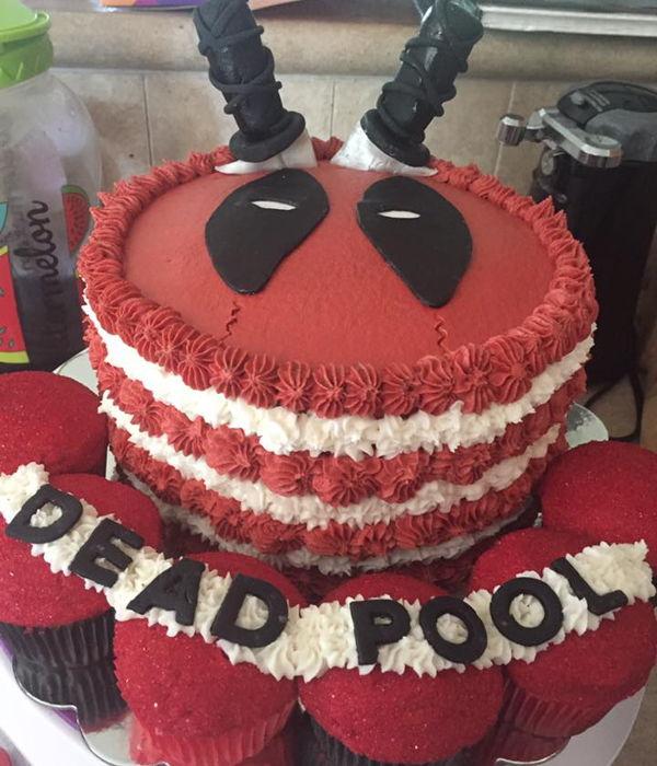 Deadpool Cake Decorating Photos