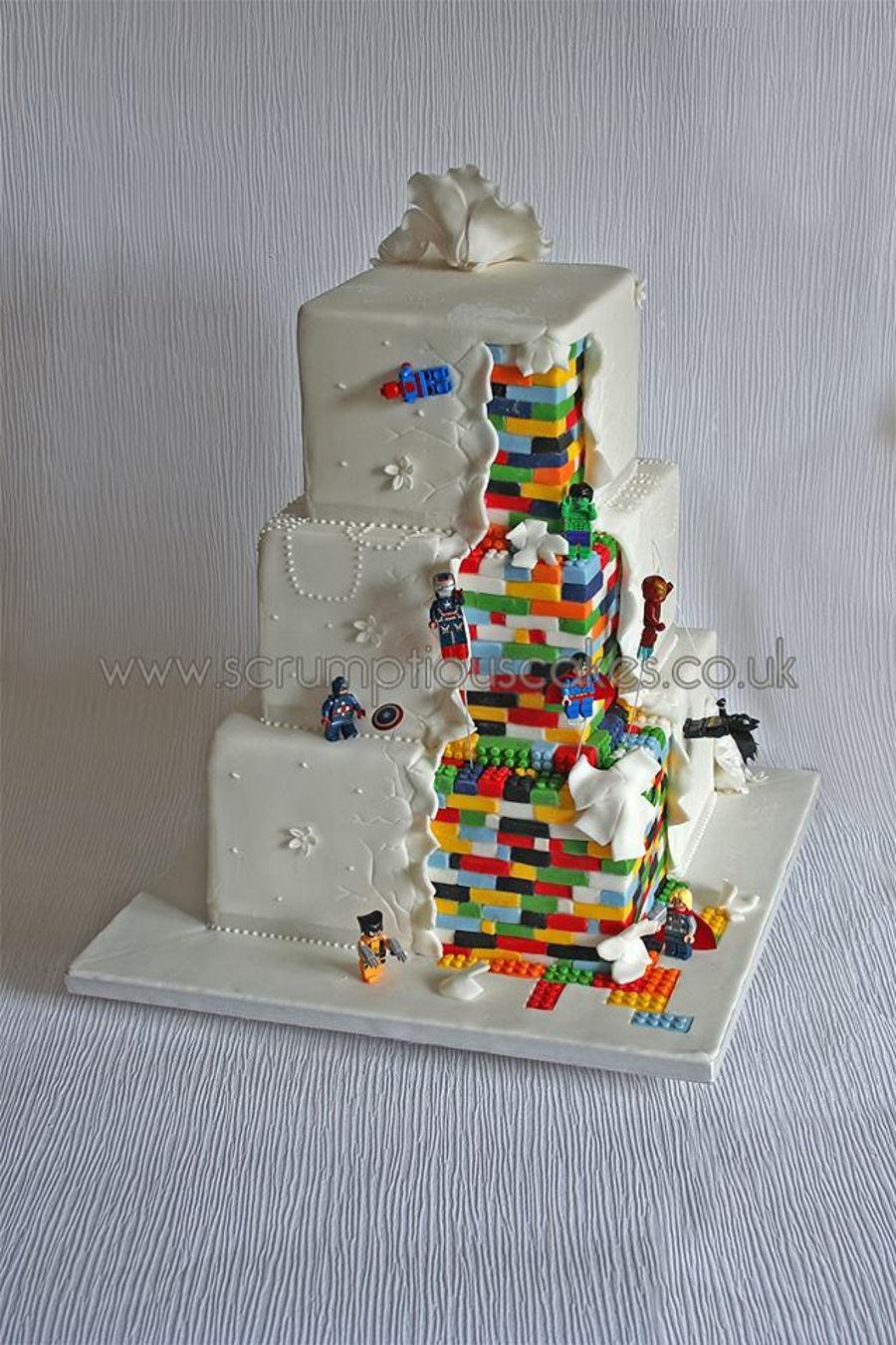 Lego Superhero Wedding Cake Cakecentral Com