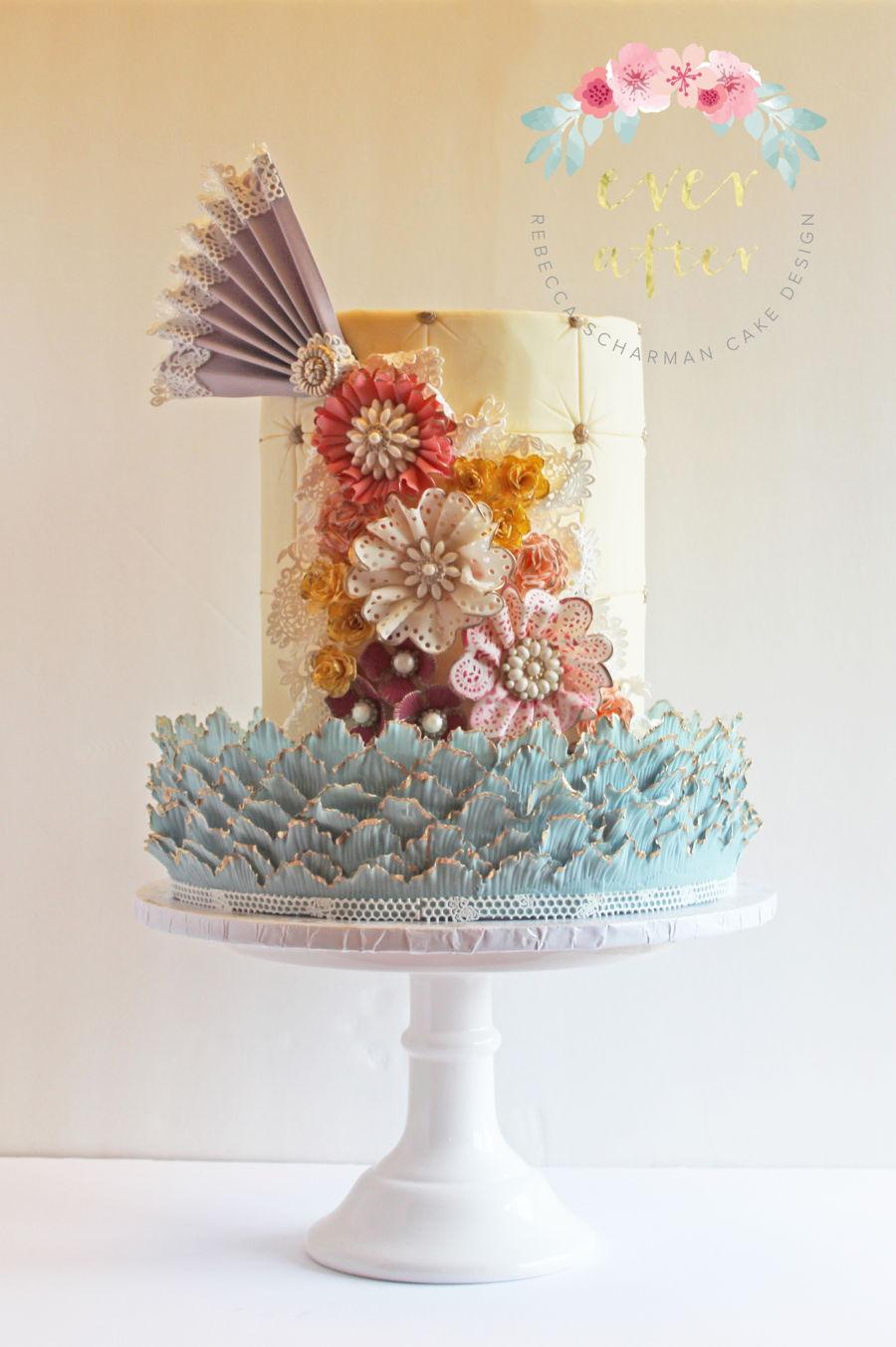 Shabby Chic Vintage Flower Cake Cakecentral Com