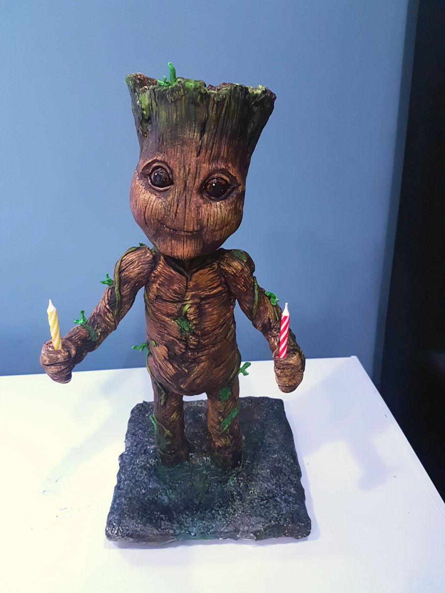 Baby Groot 3d Cake Cakecentral Com