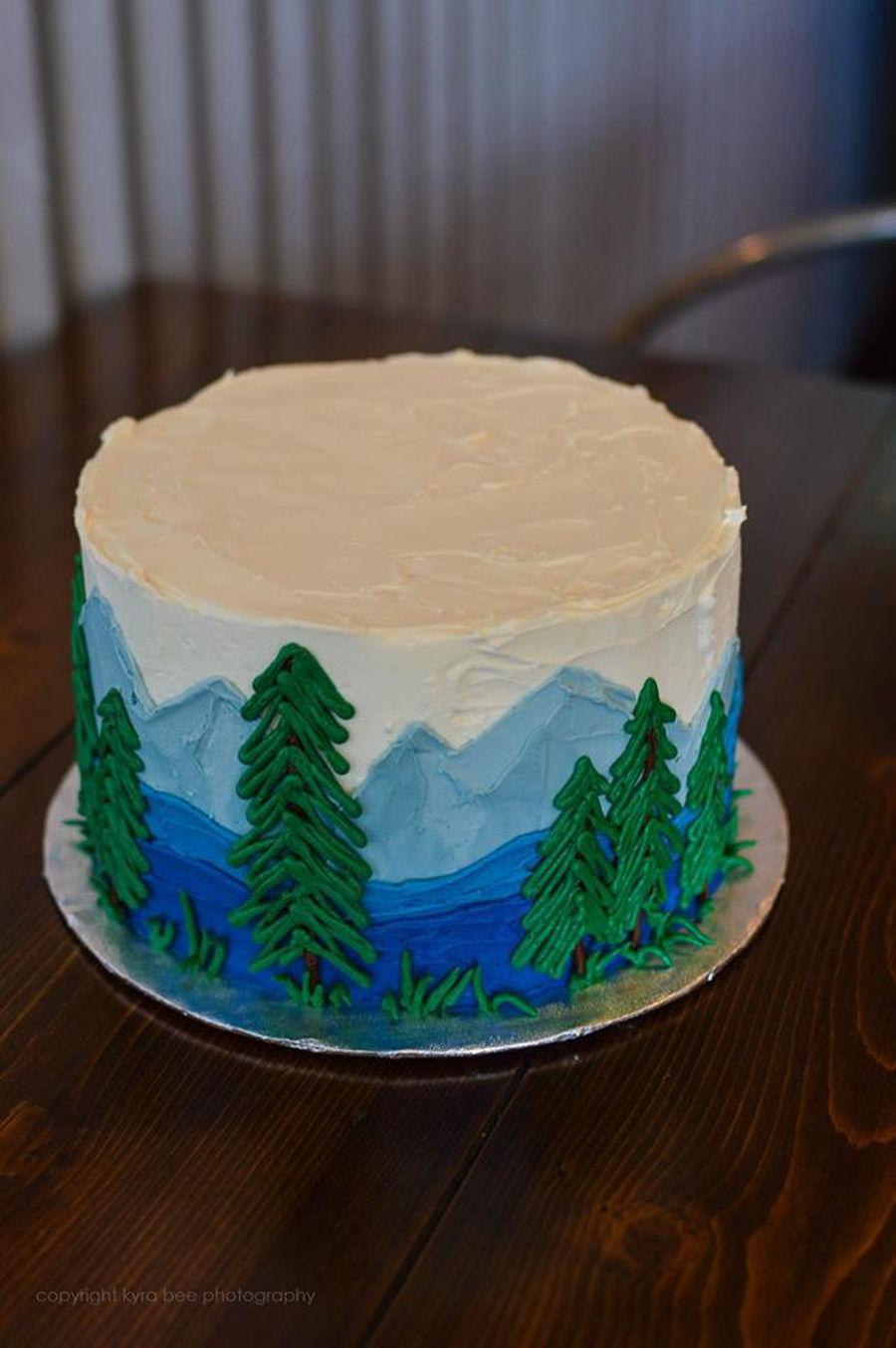 Alaskan Scenery Cake Cakecentral Com