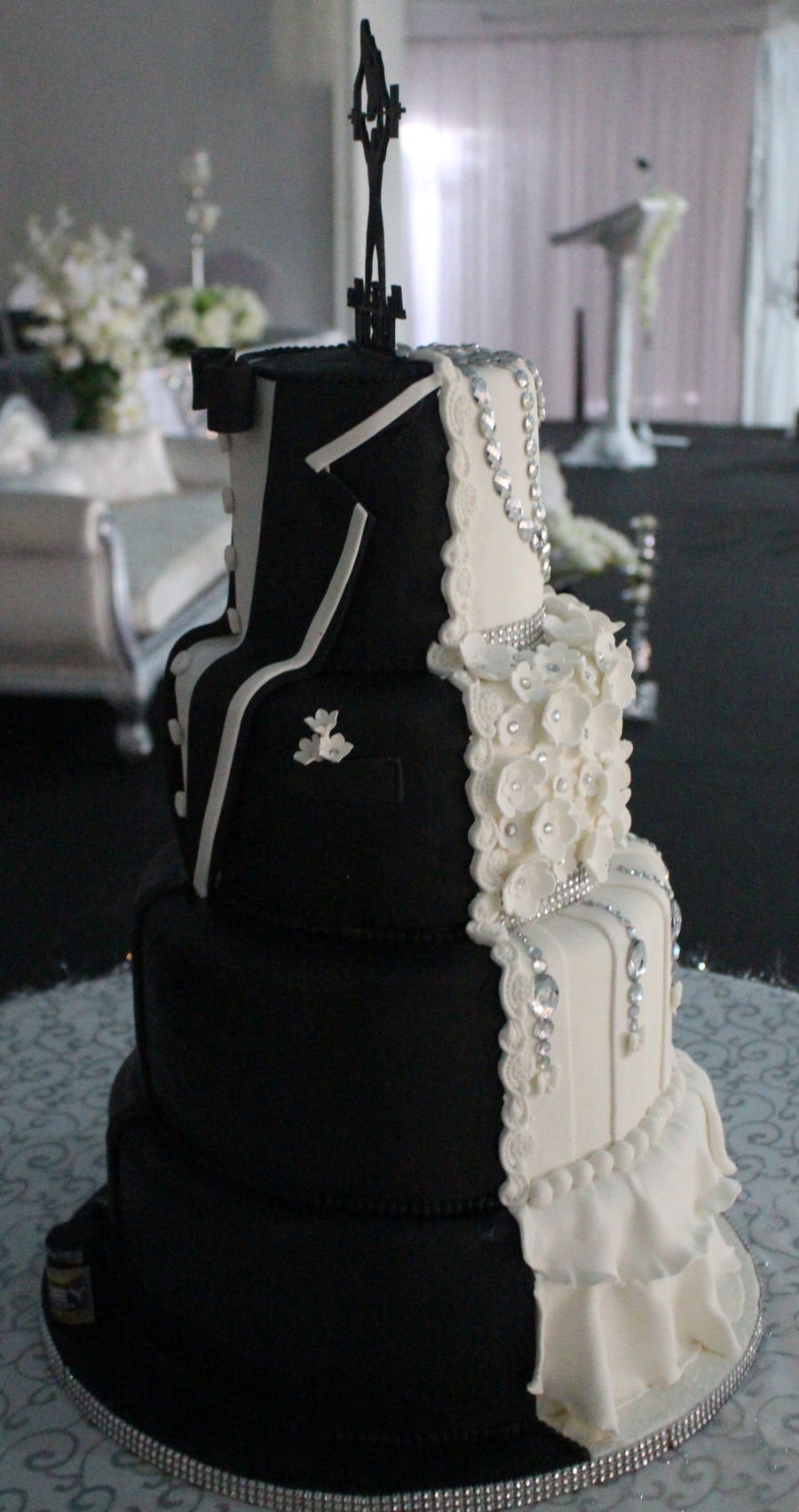 Half Bride Half Groom Cake