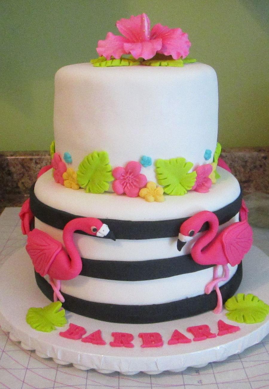 Famingle Flamingo Birthday Cake For Barbara Cakecentral Com