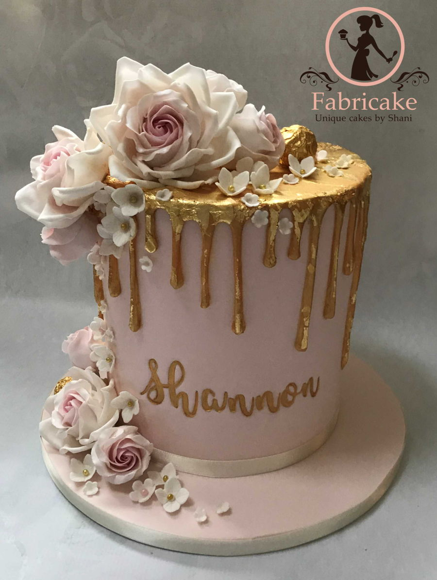 Pink And Gold Drip Cake Cakecentral Com